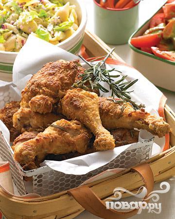 Жареная курица с розмарином