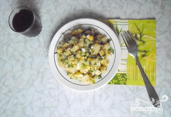 Зимний картофельный салат - фото шаг 5