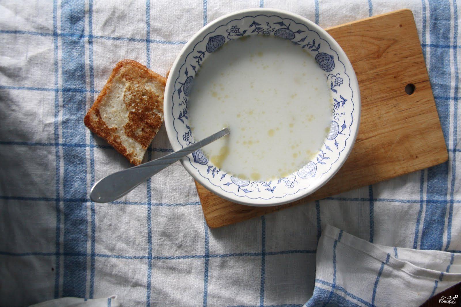 Рецепт Молочный суп с макаронами