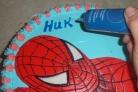 Торт бисквитный Человек-паук