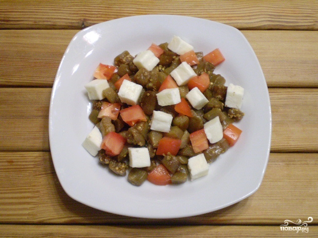 рецепт салата из баклажан с грибами
