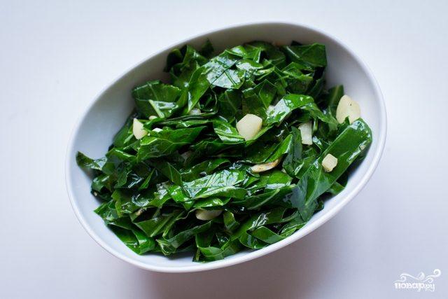 Гарнир из листовой капусты