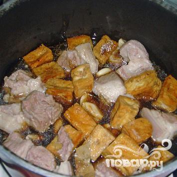 Жареная свинина с тофу - фото шаг 3