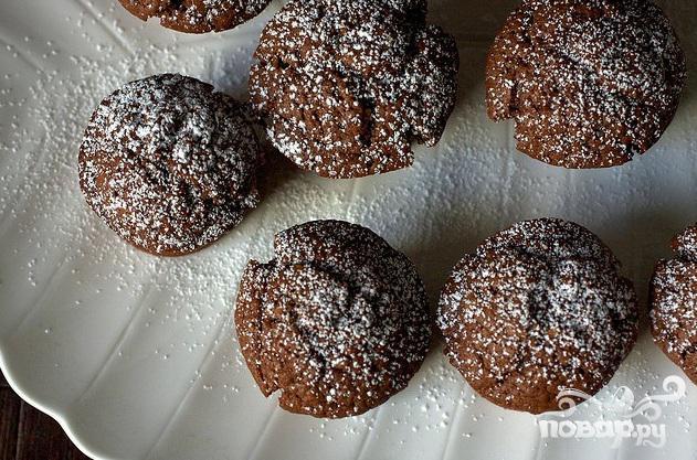 Шоколадные кексы с йогуртом - фото шаг 4