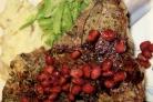 Мясо под гранатовым соусом