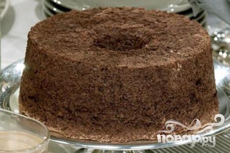 Шоколадный пирог с кремом англез