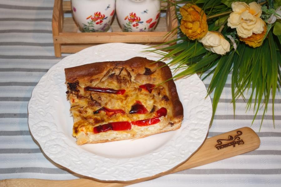 Пирог с перцем и капустой - фото шаг 7