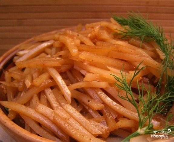 Картошка по-корейски