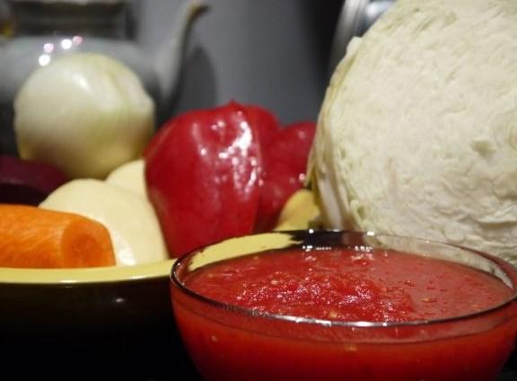 Рецепт Вкусный борщ с говядиной