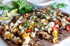 Шашлычки с курицей и овощами на гриле
