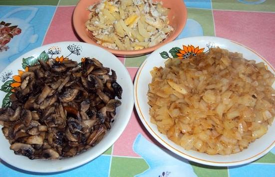Рецепт Пирог с грибами заливной