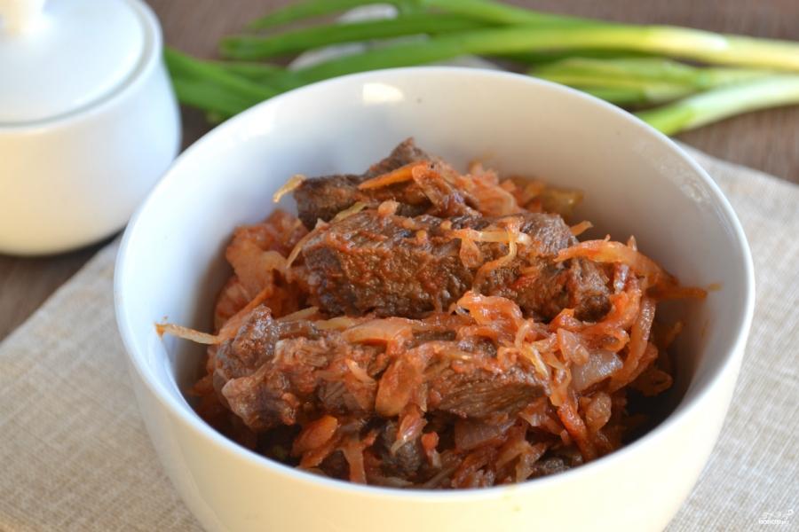 открытый пирог с капустой и мясом рецепт с фото