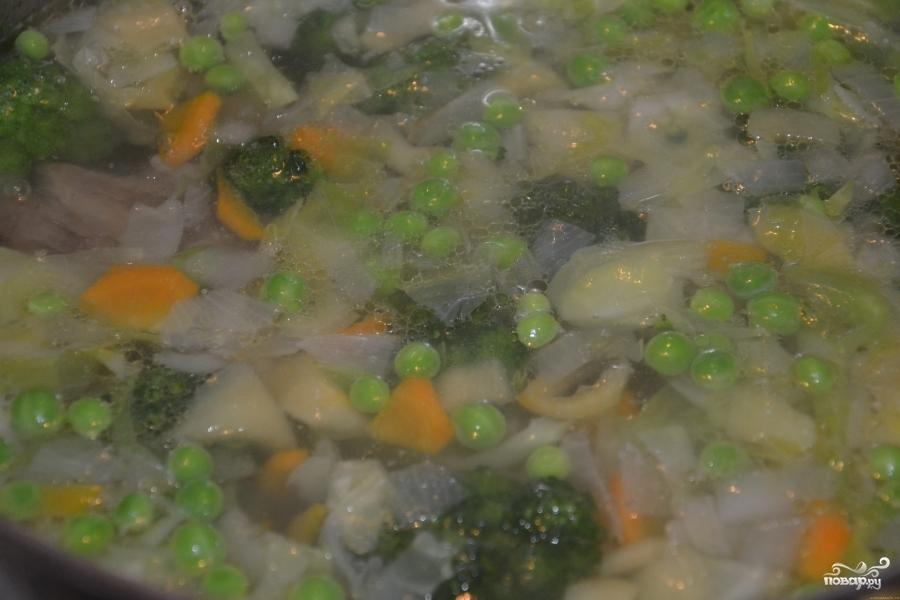 Постный суп из брокколи - фото шаг 7