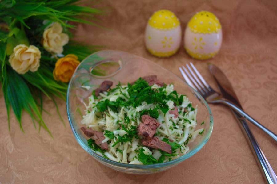 Салат с печенью видео рецепт 88