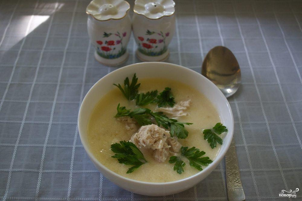 Грузинский суп с курицей