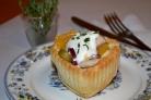 Салат с сыром, апельсином и курицей