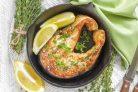 Палтус, запеченный в духовке с тимьяном