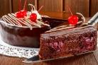 Торт Прага с вишней и шоколадом