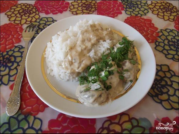 Грибы в сливочном соусе - фото шаг 4