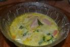 Суп с сосиской