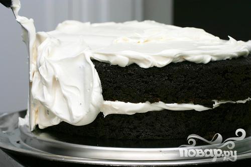 Шоколадный торт со сливочным кремом - фото шаг 4