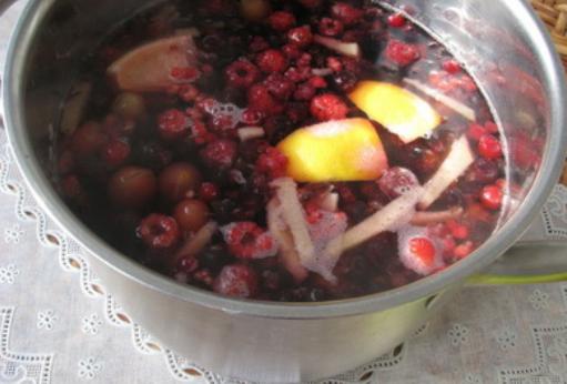 Компот из смородины и малины - фото шаг 3