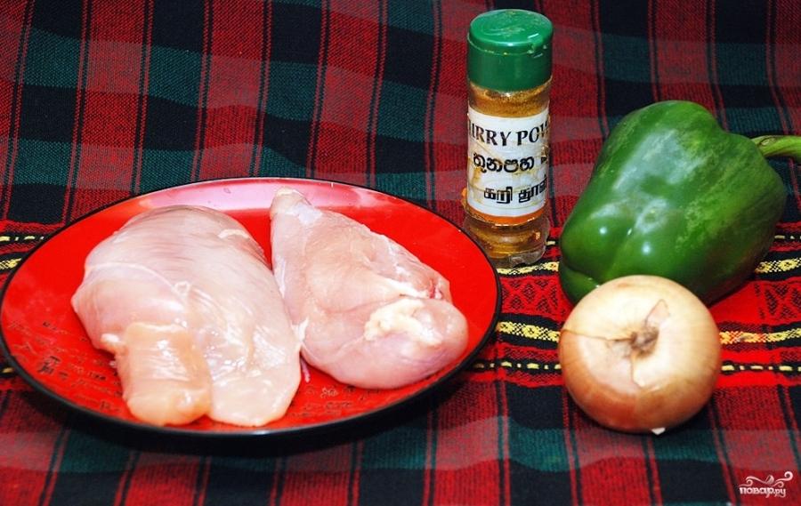 Курица карри с ананасами - фото шаг 1