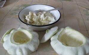 Рецепт Патиссоны, фаршированные овощами