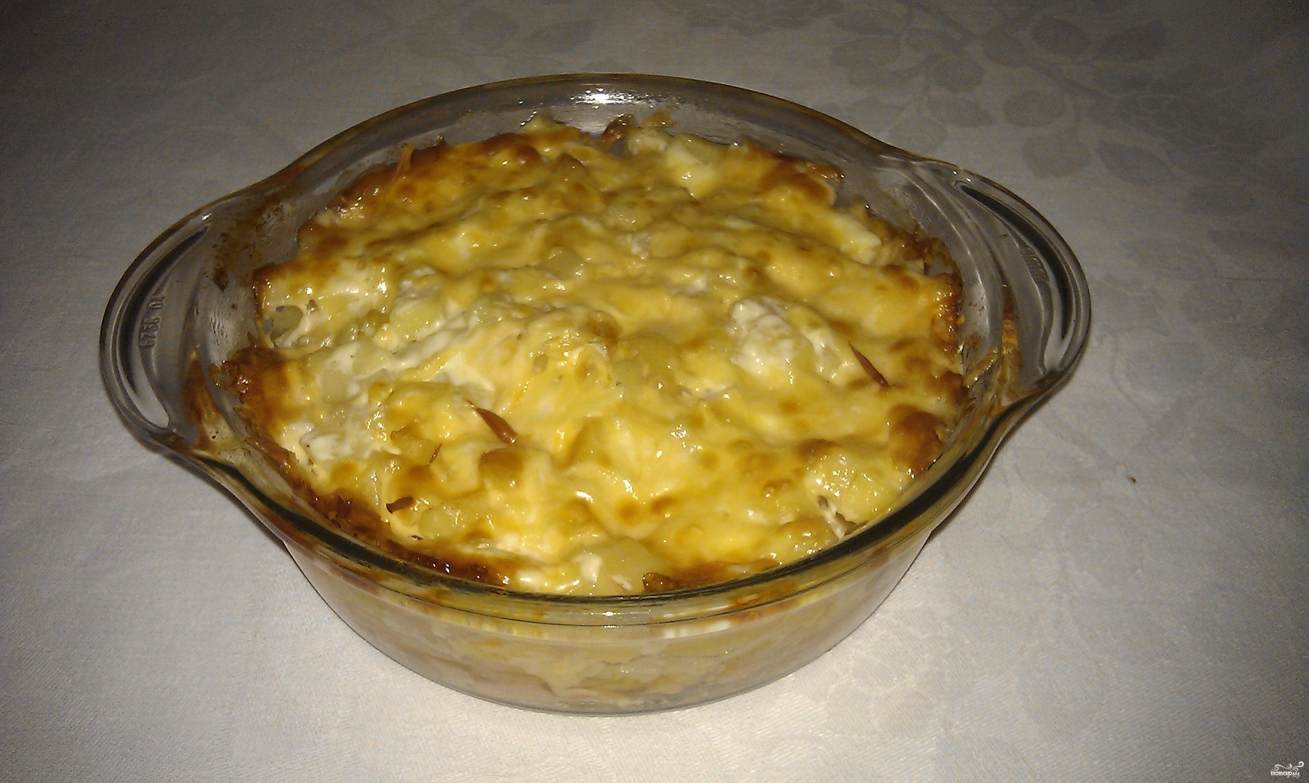 запеканка с картофельного пюре с мясом