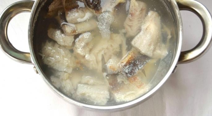 Рецепт Латвийский молочный суп с рыбой