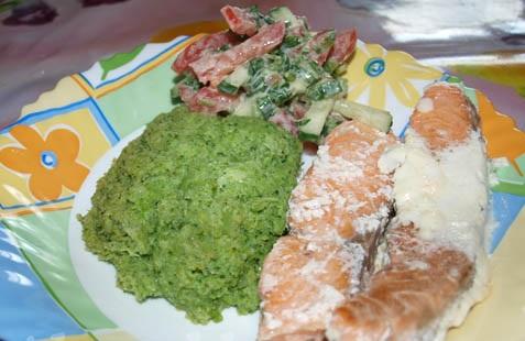 Семга с брокколи в духовке - фото шаг 8