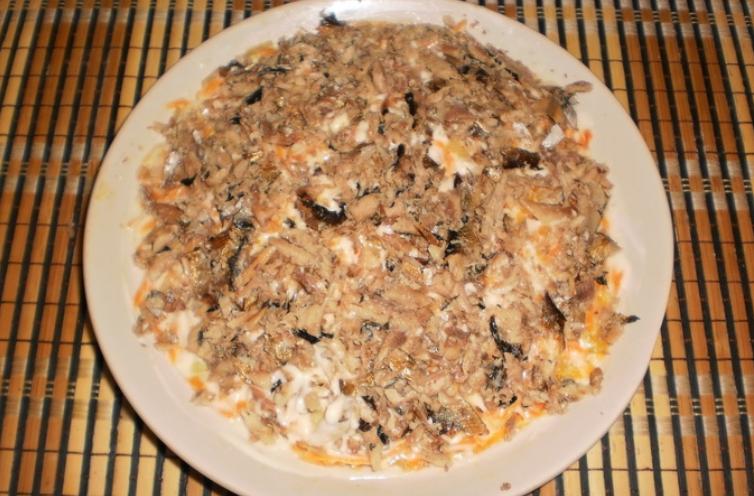 салат со шпротами и сыром рецепты с фото