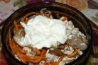 Салат Обжорка с грибами