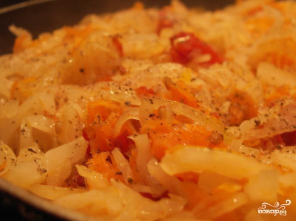 Постная солянка из свежей капусты - фото шаг 6