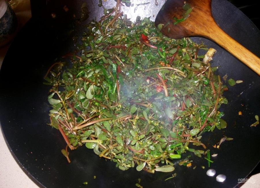 Салат из портулака - фото шаг 5