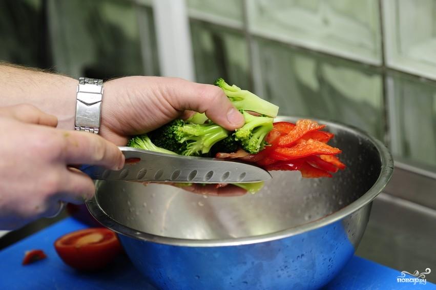Салат из капусты брокколи - фото шаг 5