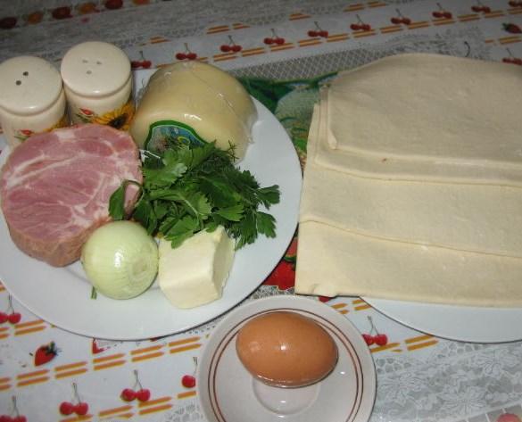 Хачапури с ветчиной и сыром - фото шаг 1