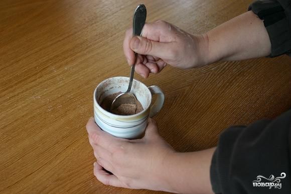 Шоколадный кекс в кружке - фото шаг 1
