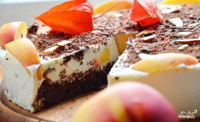 Персиковый торт-суфле - фото шаг 12