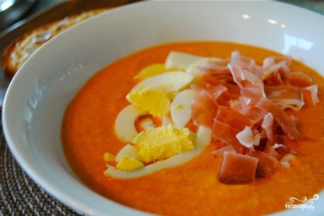 Испанский холодный суп Сальморехо
