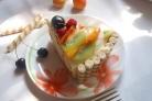 Бисквитно творожный торт