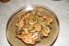 Креветки с чесночным соусом