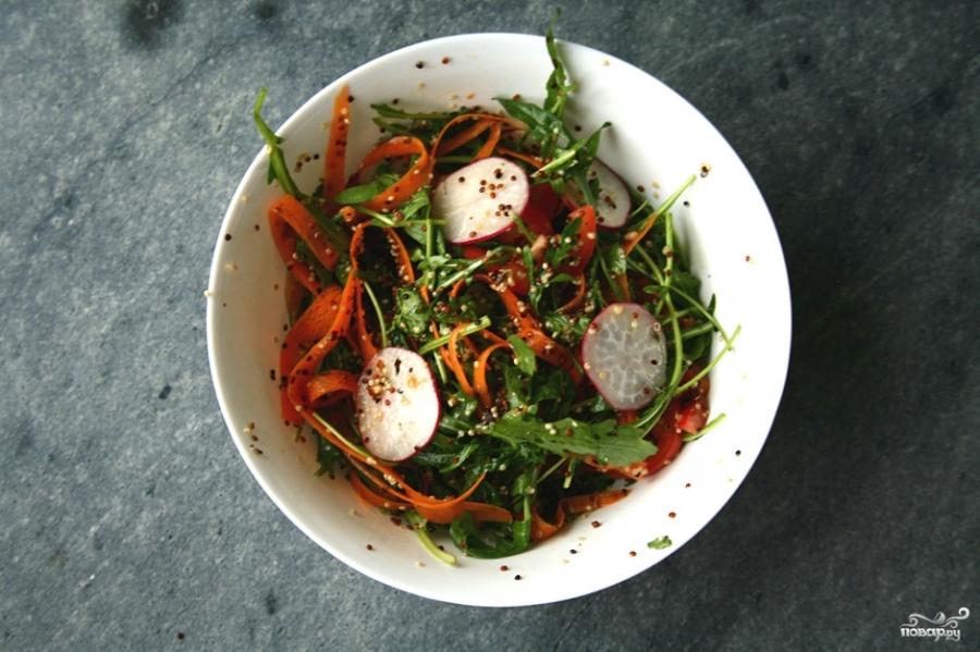 Салат из киноа с овощами - фото шаг 5