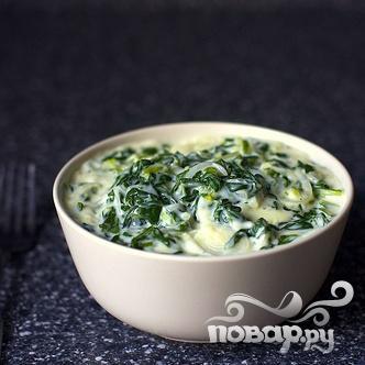 Сливочный соус с луком и мангольдом - фото шаг 3