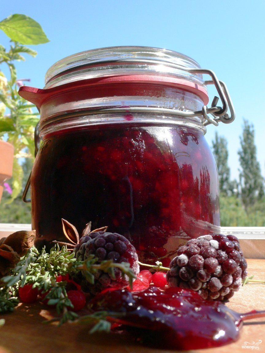 Рецепт Ежевика с сахаром на зиму