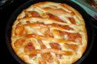 Пирог из пирожкового теста с вареньем