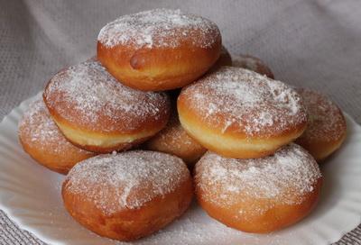 Пончики с кремом рецепт