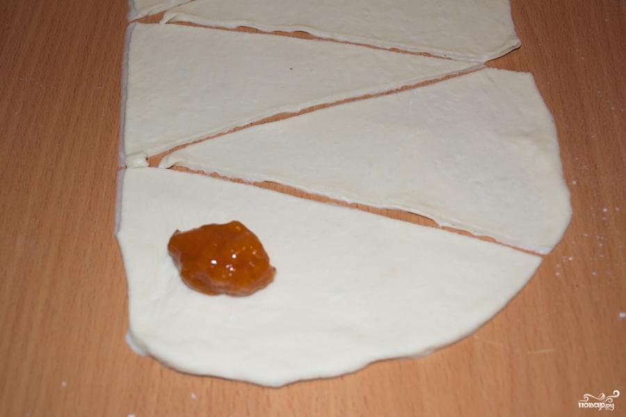 Рулетики с абрикосовым вареньем - фото шаг 4