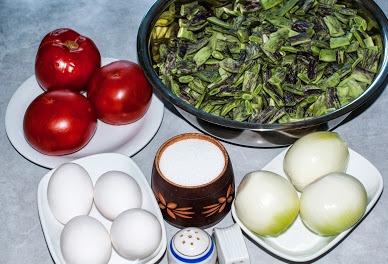 Рецепт Лобио из стручковой фасоли с яйцом