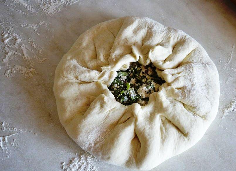 Осетинский пирог с творогом - фото шаг 4